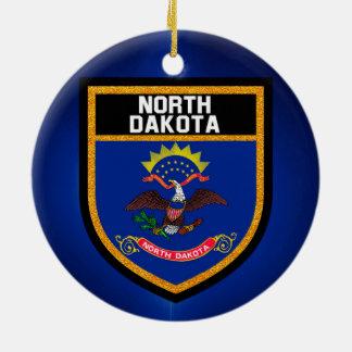 North Dakota Flag Ceramic Ornament