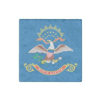 NORTH DAKOTA FLAG STONE MAGNETS