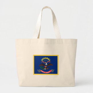 North Dakota Flag Large Tote Bag