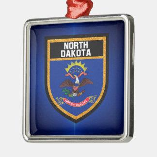 North Dakota Flag Metal Ornament