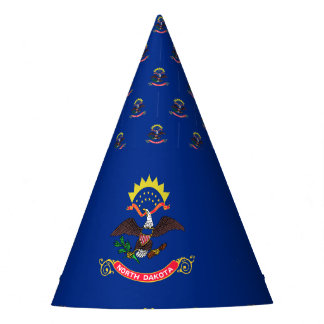 North Dakota Flag Party Hat