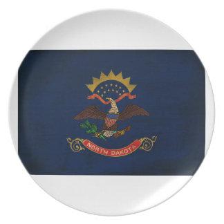 North Dakota Flag Party Plate