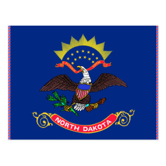 North Dakota Flag Postcard