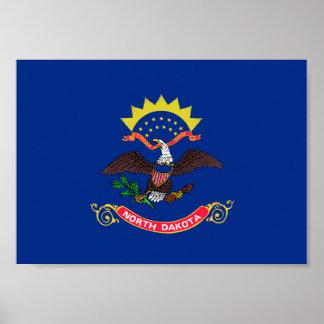 North Dakota Flag Poster