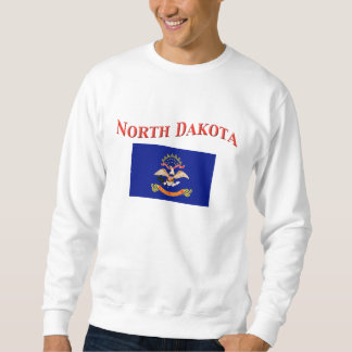 North Dakota Flag Pull Over Sweatshirt