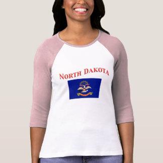 North Dakota Flag T Shirts