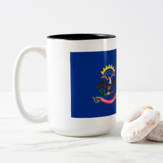 North Dakota Flag Two-Tone Coffee Mug