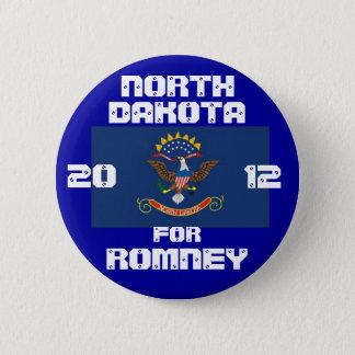 North Dakota for Romney 2012 2 Inch Round Button