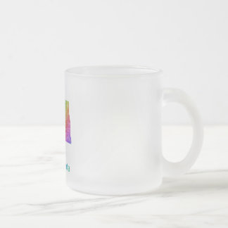 North Dakota Frosted Glass Coffee Mug