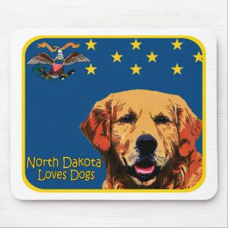 North Dakota Golden Retriever Mouse Pad