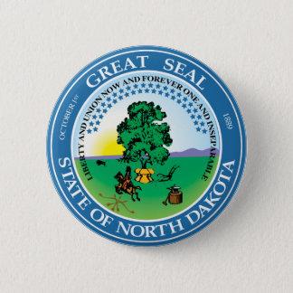 North Dakota Great Seal 2 Inch Round Button