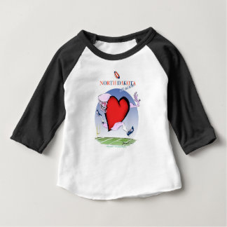 north dakota head heart, tony fernandes baby T-Shirt