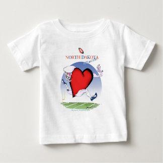 north dakota head heart, tony fernandes baby T-Shirt