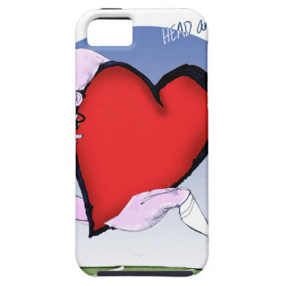 north dakota head heart, tony fernandes iPhone 5 case