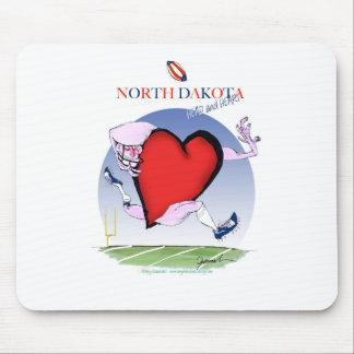 north dakota head heart, tony fernandes mouse pad