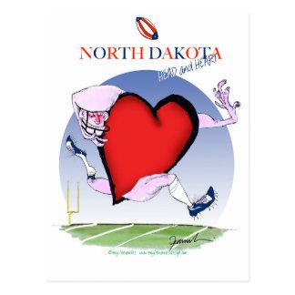 north dakota head heart, tony fernandes postcard