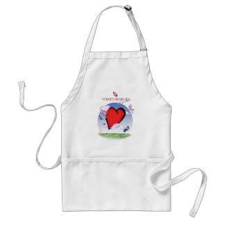 north dakota head heart, tony fernandes standard apron