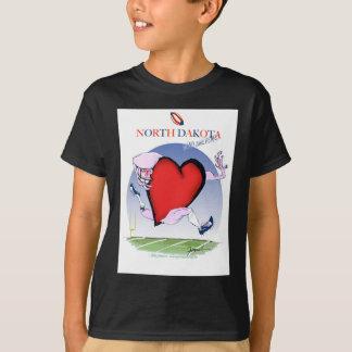 north dakota head heart, tony fernandes T-Shirt