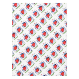north dakota head heart, tony fernandes tablecloth