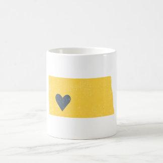 North Dakota Heart mug (yellow) - Customizable!