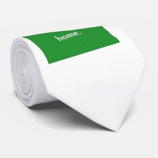 North Dakota Home State Green Tie