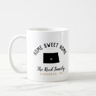 North Dakota Home Sweet Home Family Monogram Mug