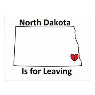 North Dakota Is for Leaving Postcard