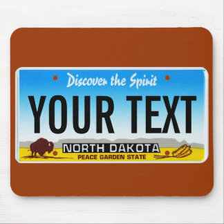 North Dakota license plate mouse pad