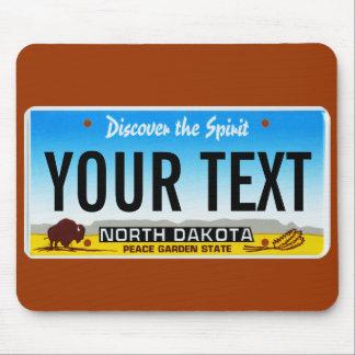 North Dakota license plate mouse pad