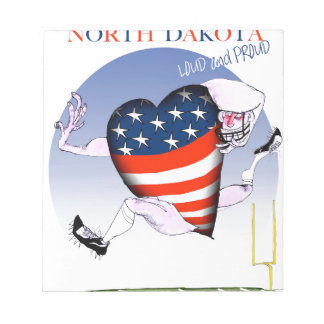 north dakota loud and proud, tony fernandes notepad