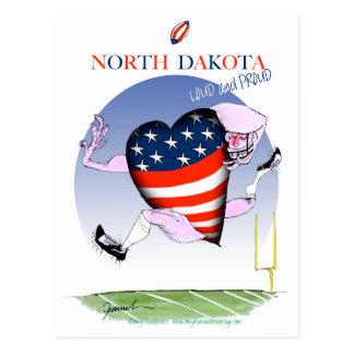 north dakota loud and proud, tony fernandes postcard
