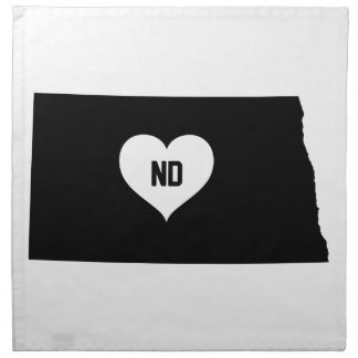 North Dakota Love Napkin