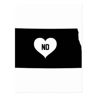 North Dakota Love Postcard