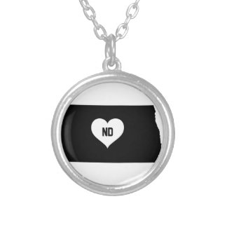 North Dakota Love Silver Plated Necklace