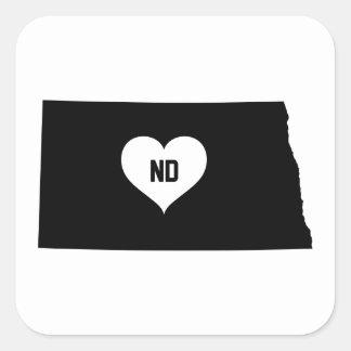 North Dakota Love Square Sticker