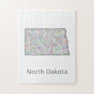 North Dakota map Jigsaw Puzzle