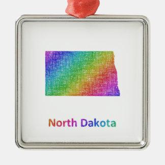 North Dakota Metal Ornament