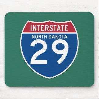 North Dakota ND I-29 Interstate Highway Shield - Mouse Pad