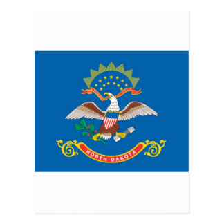North Dakota  Official State Flag Postcard