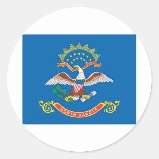 North Dakota  Official State Flag Round Sticker