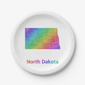North Dakota Paper Plate