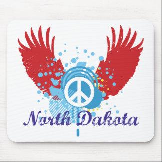 North Dakota Peace Sign Mouse Pad
