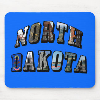 North Dakota Picture Text Mouse Pad