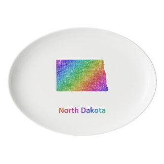 North Dakota Porcelain Serving Platter