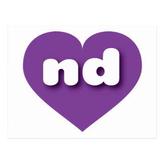 North Dakota purple heart - mini love Postcard