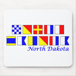 North Dakota spelled in nautical flag alphabet Mouse Pad