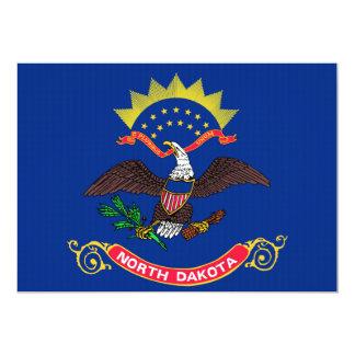 "North Dakota State Flag 5"" X 7"" Invitation Card"