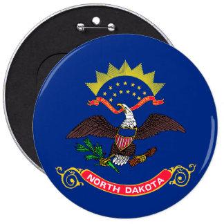 North Dakota State Flag 6 Inch Round Button