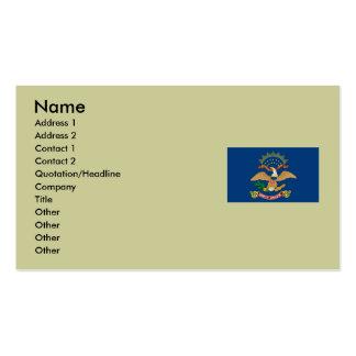 North Dakota State Flag Business Card