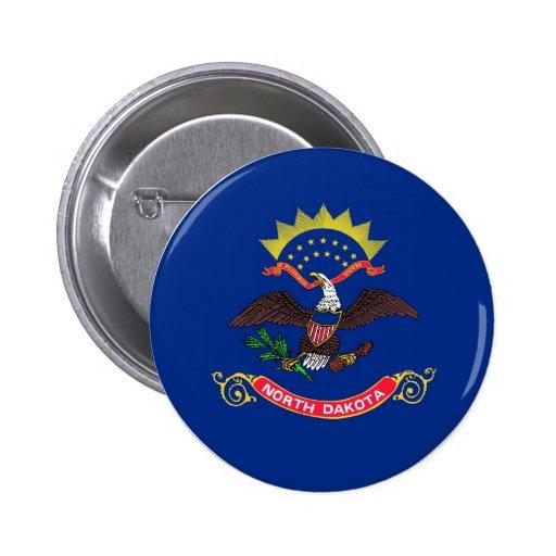 North Dakota State Flag Pinback Buttons